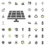 Solar power station icon. Eco and Alternative Energy vector icon set. Energy source electricity power resource set vector. Solar power station icon. Eco and Royalty Free Stock Photography