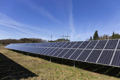 Solar Power Station In The Early Spring Nature Stock Photos