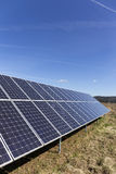 Solar Power Station In The Spring Nature With Blue Sky Royalty Free Stock Photography