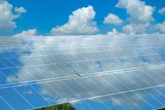 Solar power station, mirroring Royalty Free Stock Photo