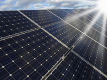 Solar power station -  photovoltaics Stock Photo
