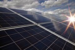 Solar power station -  photovoltaics Stock Images