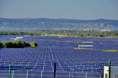 Solar power station - photovoltaics Stock Photos