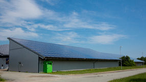 Solar power station on roof. Royalty Free Stock Images