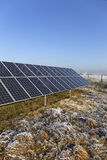 Solar Power Station in the snowy freeze winter Nature Stock Photography