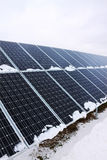 Solar Power Station in the snowy winter Nature Stock Images