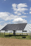 Solar Power Station on the summer Meadow Royalty Free Stock Photography