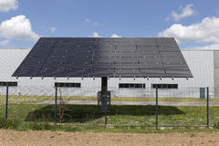 Solar Power Station on the summer Meadow Royalty Free Stock Photos