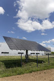 Solar Power Station on the summer Meadow Stock Images