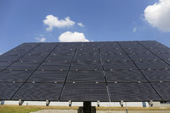 Solar Power Station on the summer Meadow Stock Photo
