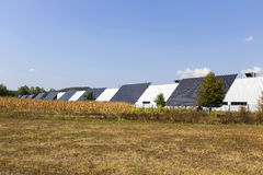 Solar Power Station on the summer Meadow Royalty Free Stock Images
