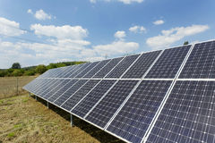 Solar Power Station in the summer Nature Royalty Free Stock Photo