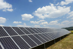 Solar Power Station in the summer Nature Stock Image