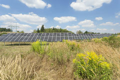 Solar Power Station in the summer Nature Stock Photos