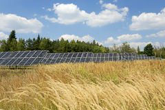 Solar Power Station in the summer Nature Royalty Free Stock Photography