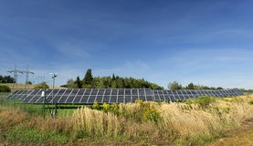Solar Power Station in the summer Nature Royalty Free Stock Photos