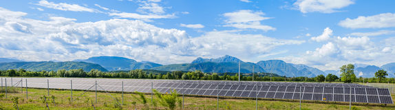 Solar power station stock photography