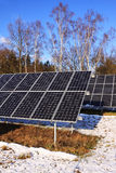 Solar Power Station in the Winter Nature Royalty Free Stock Photography