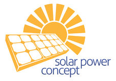Solar Power Sun Panel Concept Stock Photo