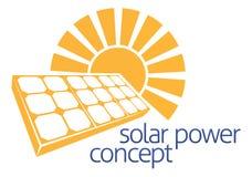 Solar Power Sun Panel Concept Stock Photo