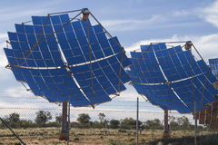 Solar power supply for the township of Windorah. Stock Photos