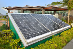 Solar Power System. Of the peak Galleria : A clean , non-polluting and environmental energy. Peak Plaza aims to improve the environmental qualities and raise stock photography