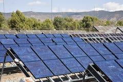 Solar Power System. At Natural Bridges National Monument in Utah, USA Royalty Free Stock Photo