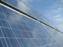 Solar power system I. Part of a movable solar power system Royalty Free Stock Images