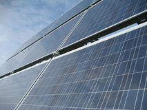 Solar power system II. Part of a movable solar power system Royalty Free Stock Photos
