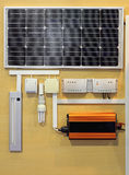 Solar Power System. Renewable Energy For Home stock images