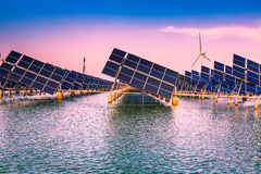 Solar power and wind power Royalty Free Stock Photography