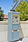 Solar Powered Automatic Parking Ticket Machine. Automatic Parking Ticket Machine at a college campus that is solar powered Stock Images