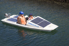 Solar Powered Boat Royalty Free Stock Image