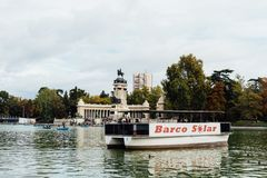 Free Solar Powered Boat In The Great Pond Of Buen Retiro Park A Sunny Day Of Autumn Stock Photo - 165630010