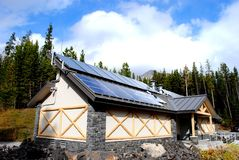 Solar Powered Building Royalty Free Stock Images