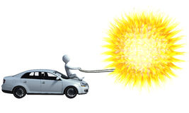 Solar-powered car Royalty Free Stock Photography