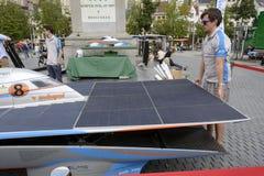Solar powered car Antwerp stock images