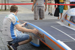 Solar powered car Antwerp Royalty Free Stock Images
