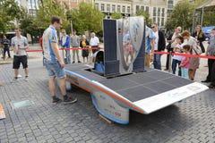 Solar powered car Antwerp royalty free stock photo