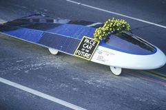 Solar powered car in Pasadena, CA Stock Photography
