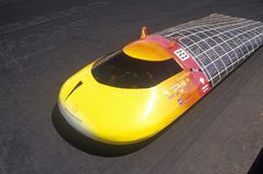 Solar powered car at the Solar and Electric 500, AZ Royalty Free Stock Photography