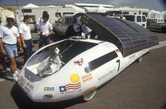 Solar powered car at the Solar and Electric 500, AZ Stock Image