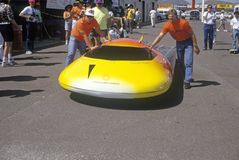 Solar powered car at the Solar and Electric 500, AZ Royalty Free Stock Image