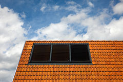 Solar-powered cells Stock Image