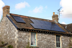 Solar powered cottage Stock Photo