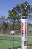 Solar powered emergency call station Stock Images
