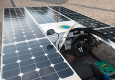 Solar powered handmade car Royalty Free Stock Photos