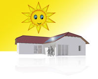Solar Powered House Royalty Free Stock Photography