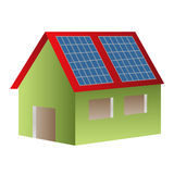 Solar powered house Stock Images