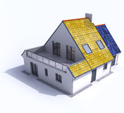 Solar powered house Stock Photography